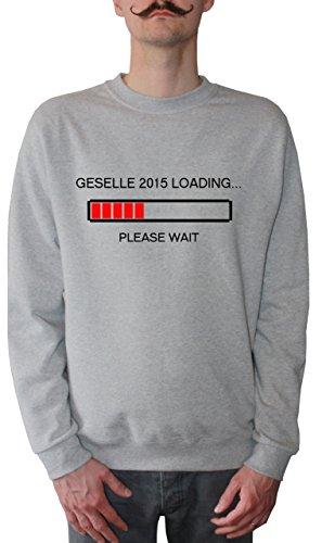 Mister Merchandise Homme Sweatshirt Geselle 2015 Loading LehrePull Sweat Men, Taille : L, Couleur: Gris