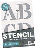 Stencil Lettere alfabeto e numeri 0-9, altezza 10 cm - molto grande maiuscole Roman su 9 fogli di 295 x 200 mm