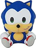 Great Eastern Entertainment Sonic The Hedgehog -SD Sonic Sitting Plush 7', Multi-Colored
