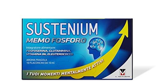 Sustenium Memo Fosforo - Integratore Alimentare Per Aiutare La Memoria E La Concentrazione Con Vitamina B6, L-Glutammina, Dl-Fosfoserina Ed Eleuterococco - 100 g