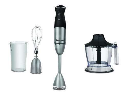 Juiceman HB0001S Juiceman Stainless Steel Hand Blender and Accessories