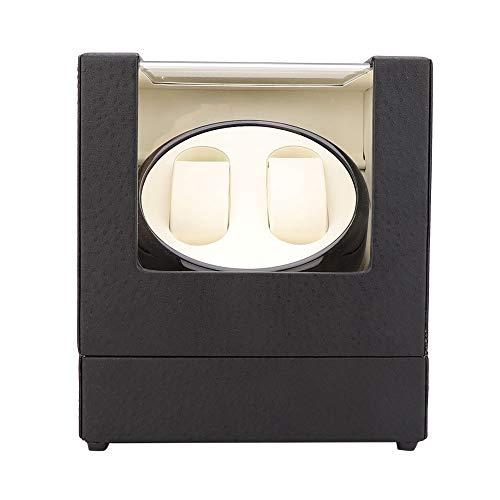 GJHBFUK EnrolladordeReloj Reloj Mecánico Doble con Caja De Carga Automática 100-240V O Motor De Rotación Silencioso A Batería para El Reloj De Esa Niña (Beige)