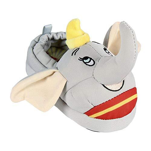 Artesania Cerda Jungen Unisex Kinder 3D Disney Dumbo Zapatillas de Estar por casa, Grau (Gris C13), 25/26 EU