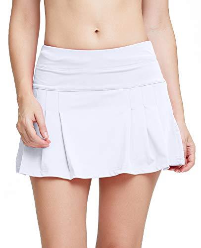 White Tennis Skirt Women Athletic Skort Golf Skirts with Shorts Pleated Y2K Skirt Skort Skirts for Women
