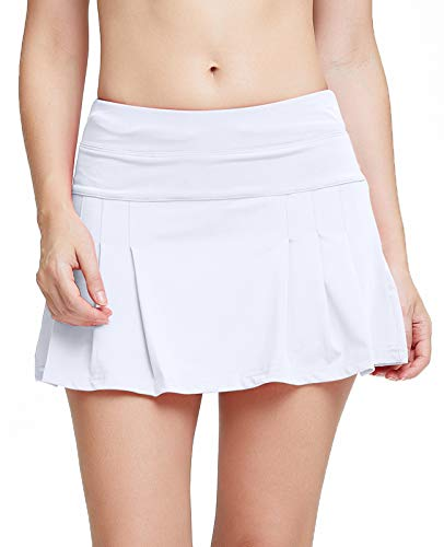 Women's Spike Athletic Mini Skort for Performance Training Tennis Golf & Running White S