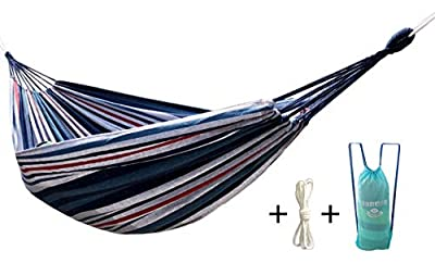 Honesh HONIISH Outdoor Leisure Double 2 Person Cotton Hammocks 450lbs Ultralight Camping Hammock