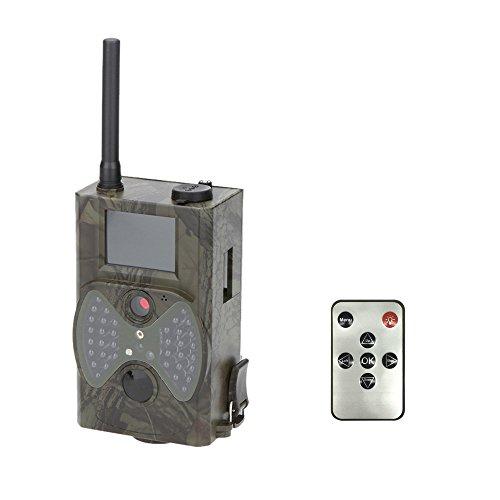 Lixada Chasse Trail Caméra 16MP 0.5s déclencheur photo piège 1080 P Vidéo Nuit Vision MMS GPRS Infrarouge Hunter Cam (HC-300M)