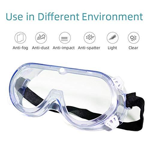 Coyan Anti-Fog Goggles Anti-Fog Anti-Spray spit Splash Labor Protection Mirror dustproof Unisex Closed Transparent Glasses FineCraft ClearVision AdjustableElastic