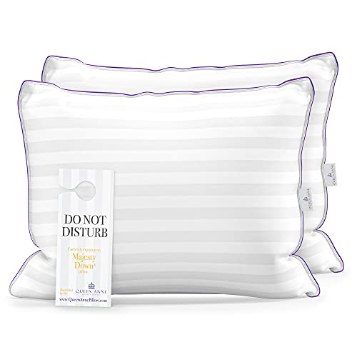 Luxury Hotel Pillows for Sleeping (Set of 2), Side Sleeper Pillow for Neck and Shoulder Pain, Allergy Free Hypoallergenic Synthetic Down Alternative Used in Luxury Hotels (Standard Firm)