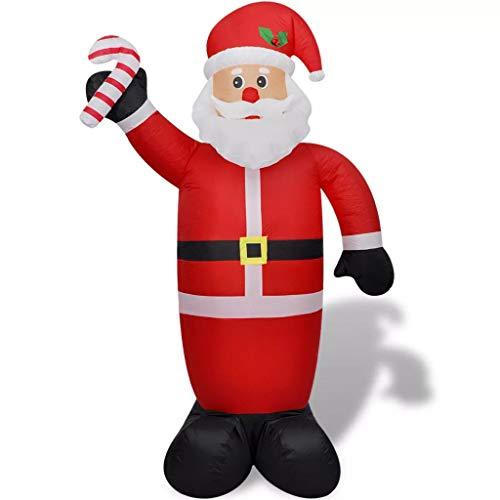 vidaXL Babbo Natale Gonfiabile Interno Esterno Luci a LED 240 cm Decoro Natale