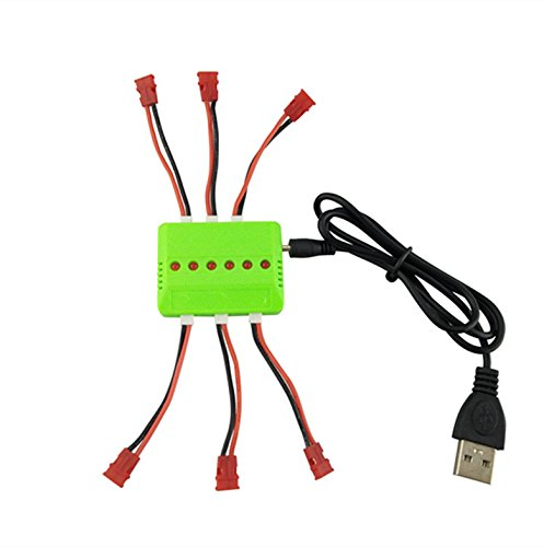 Price comparison product image RC Battery Charger Balanced Current USB 6 in 1 for 3.7V (1S) Lithium Ion Battery Quadcopter Drone Syma X1 X5C X5SW X5HW X5HC X5UW