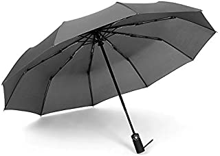 TT WARE Automatic Folding Umbrella 1-2 People Windproof Umbrella Camping Sunshade With Umbrella Cover-Gray
