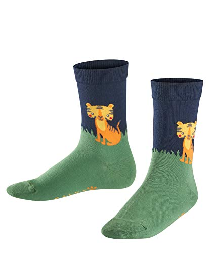 FALKE Kinder Socken Tiger, 81prozent Baumwolle, 1 Paar, Blau (Marine 6120), Größe: 23-26