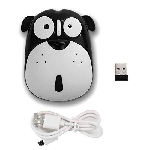 BiaBai Cartoon Dog Wireless Mute Mouse 1200DPI Energy Saving Ergonomic Optical Mice Universal Computer Mouse for Laptop PC