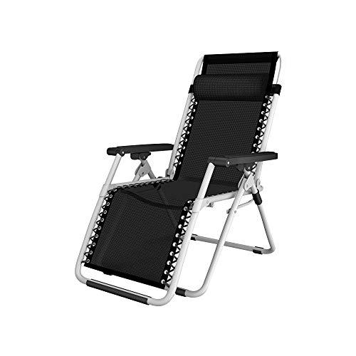 Bseack Chaises Longues, Fauteuil Lounge Multifonctions plié à 166 ° pour Pose à Plat et à réglage Semi-Automatique