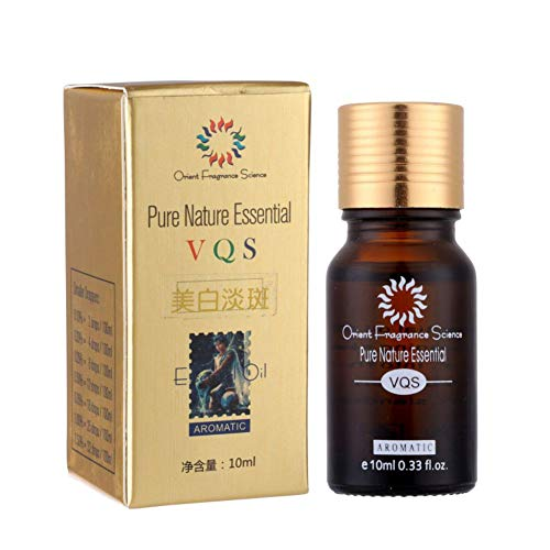 Huile nettoyante éclaircissante sans taches Visage Huile Retrait Hyper pigmentation Acné Enlevez l'huile essentielle naturelle - 10ml