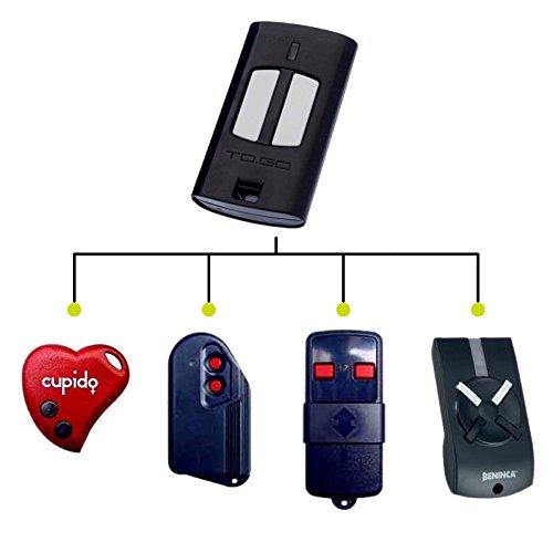 Mando a distancia para Benincà To.Go 2WV de 433 mhz, 2 canales Código mecánico, compatible con toda la serie rolling Beninca como T2WV 433 mhz, 2 Cupido, lot2 Vcv, Lot2wcvm