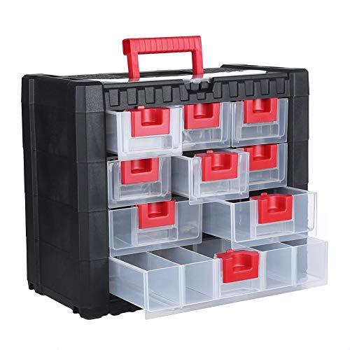 Multifunctionele ladekast, lade gereedschapskist Hardware Craft Storage Case Huishoudelijke rommel Organizer met handvat voor ondergoed, bh's, sokken, stropdassen, sjaals