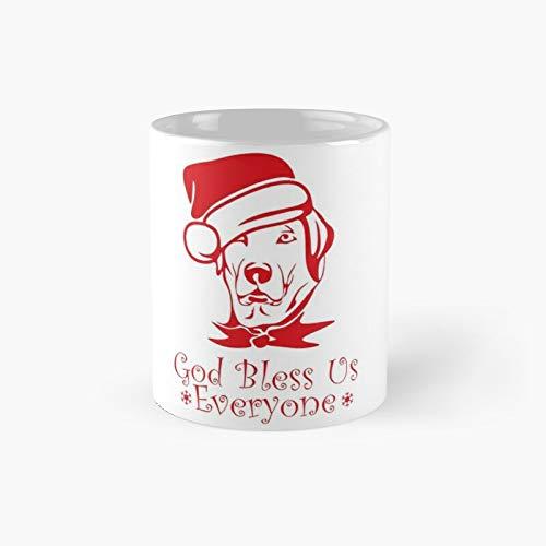 Taza clásica de invierno con gorro de Papá Noel, ideal como regalo para café, 325 ml