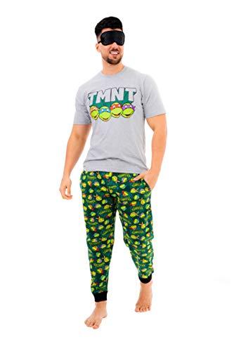 Conjunto de pijama de tortugas ninja mutantes adolescentes con máscara de ojos de los años 90 de dibujos animados TMNT ropa de dormir