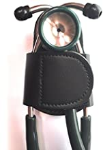 The BATCLIP (Black) - Premium Leather Handmade Clip-on Stethoscope Hip Holder; no More Neck Carrying, Loss, or Misplacement. Proudly Carry Your high-end Stethoscope with Taste and Style.