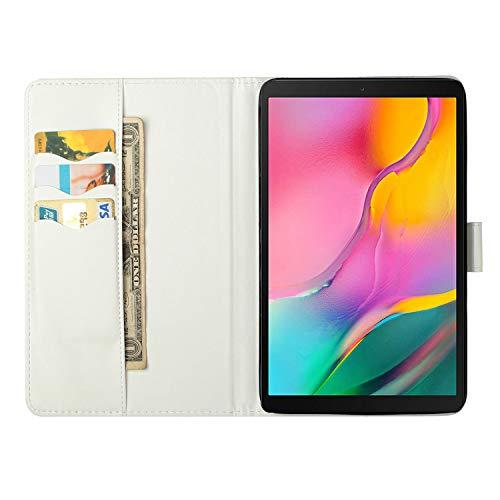 Ancase Tablet Hülle kompatibel für Samsung Galaxy Tab S5e (2019) 10.5 Zoll T720 T725 Hülle Case Leder Tasche Muster Schutzhülle Flip Cover mit Kartenfach - Sternenhimmel