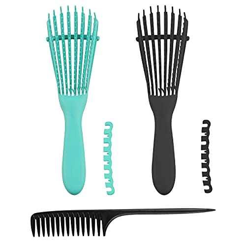 2 pack Hair Detangling Brush for Afro American/African Hair Textured...