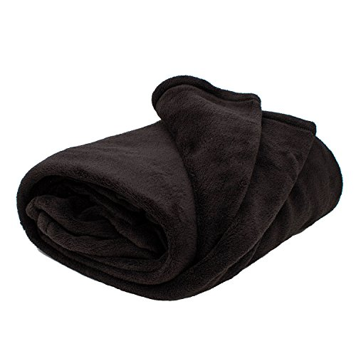 thumbsUp! - Hugz - Couverture Polaire Polyester Noir 135 x 175cm - 0001384