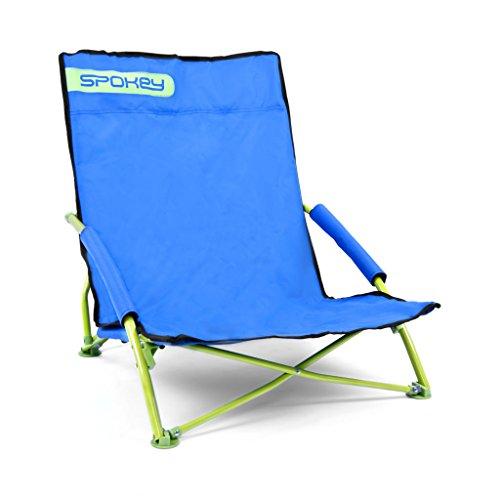 Klappbarer Strandstuhl | SPOKEY PANAMA | flatbarer Strandsessel | leichter Klappstuhl mit Tragetasche | Belastbarkeit bis 120 kg | kleines Packmaß