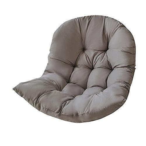 H HILABEE Cuscino del Sedile del Cestino sospeso dell'altalena, Cuscino per Sedia dell'amaca Appeso all'uovo Addensato Imbottitura del Sedile della Sedia per Il - Grigio Scuro