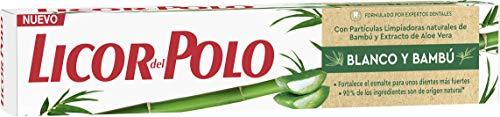 Licor del Polo tandpasta wit en bamboe – 6 stuks à 75 ml (in totaal 450 ml)