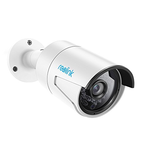 Reolink PoE Camera 4MP Super HD Home Security Outdoor Indoor Video Surveillance Support Night Vision, Motion Detection, Audio, Remote Access, SD Card Slot RLC-410