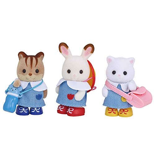 Calico Critters Nursery Friends Set, Collectible Doll Playset with 3 Figures and Accessories Included