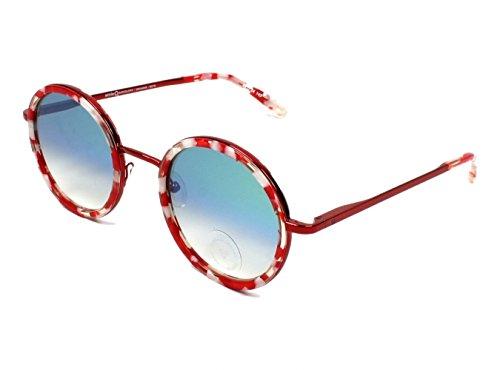 Etnia Barcelona Gafas de Sol MIRAMAR RED WHITE/LIGHT BLUE SHADED unisex