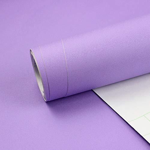 Homease Klebefolie Möbel Selbstklebende, PVC Selbstklebende Tapete Lila Matte, 3 x 0.4 M, verdickt wasserdicht Möbelfolie, Dekofolie für Küchen Schränken Wand Tischplatte