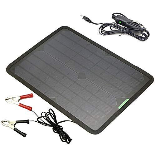 SHENGY Cargador portátil del Coche del Panel Solar de 12V 18V 10W, mantenedor de la batería, generador accionado Solar, para Las baterías del Barco RV del Tractor de la Motocicleta del automóvil