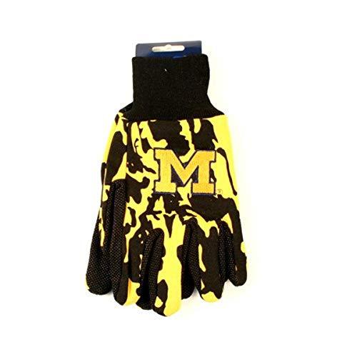 Wincraft NCAA Michigan Wolverines Camo-Handschuhe, Gelb/Schwarz, 2 Stück