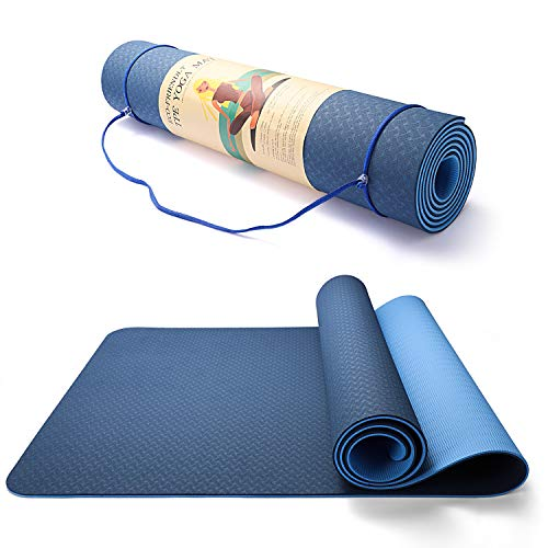 best yoga mat for 2021 TWING Extra-Wide Yoga Mat, Non-Toxic Fitness Mat, Upgraded 2021 Non-Slip Yoga Mat, Workout Mat for Yoga, Pilates and Exercises Extra Wide Exercise Mat 72