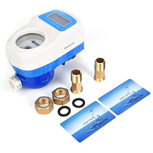 Medidor Digital de Flujo de Agua, LXSK-15E Pantalla Digital de Jardín para el Hogar Herramienta de Medición Inteligente Inteligente a Prueba de Agua Medidor de Tubería de Grifo de Agua(LXSK-15E)