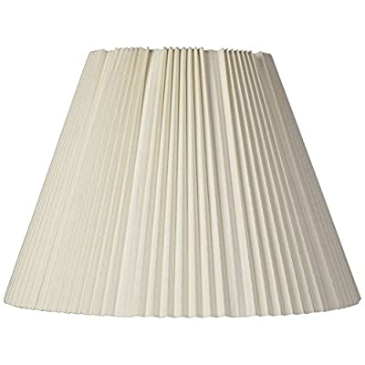 Eggshell Pleated Lamp Shade 9x17x12.25 (Spider) - Brentwood