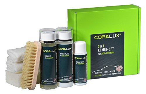 CORALUX Lederpflege 3in1 Kombi-Set zur Pflege von Autoleder von LCK
