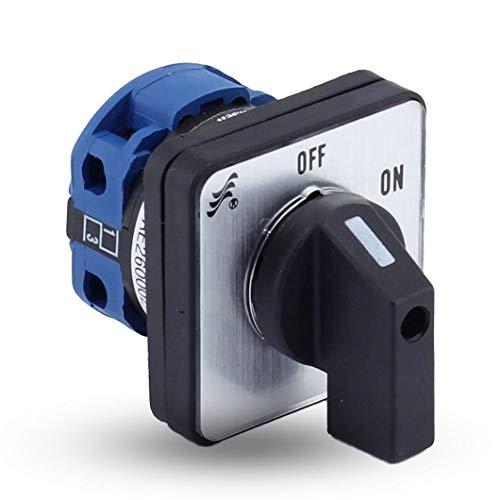 Interruptor de leva giratorio CANSEN LW26-20 CA10 Ith 20A ON-OFF 2 posiciones 2 polos 2P 4 terminales Interruptores de mantenimiento