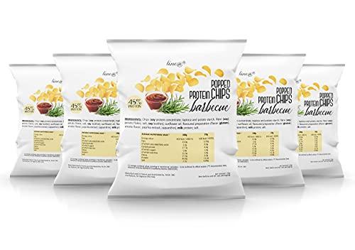 CHIPS PROTEICHE SOFFIATE | 5 confezioni al gusto BARBECUE | FASE 1 | popped protein chips Line@ per toglierti un capriccio, con gusto e senza rinunce!