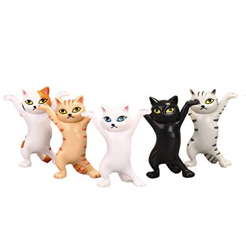CLFYOU 5PCS Cat-Modell-Dekoration-Geschenk für Kinder Katzen-Liebhaber Katzen-Figurine Katzen-Verzierung