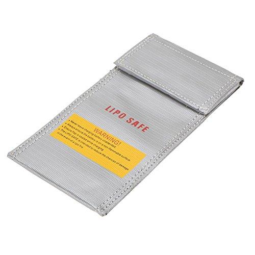 Fransande - Bolsa de seguridad para RC (plástico, 20 x 10 cm), color plateado