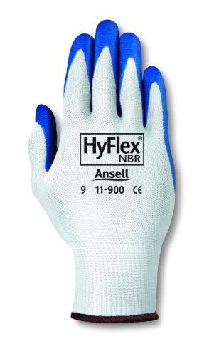 Ansell Hyflex 11-900 Guanto Oleorepellente, Protezione Meccanica, Blu, Taglia 9 (Sacchetto di 12 Paia)