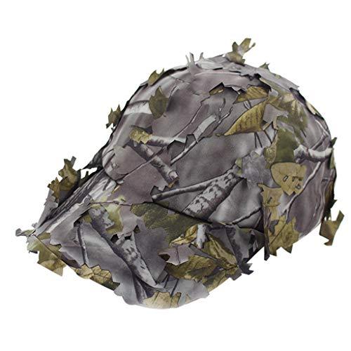 Harpily Reality Cs Camouflage Cap,Nachahmung Gras Dschungel Camping ScharfschüTzen Tarnung Hut Im FreienmilitäRische Trainings Dschungel Taktische Kappe
