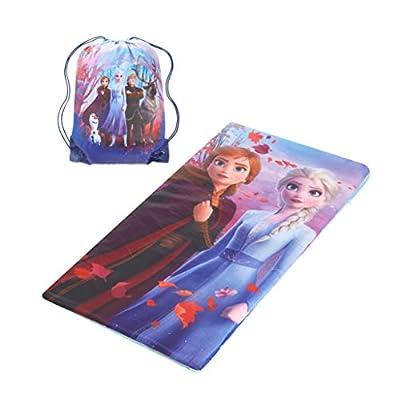 "Disney Frozen 2 Sling Bag & Slumber Set Featuring Anna and Elsa, 46"" L x 26"" W"