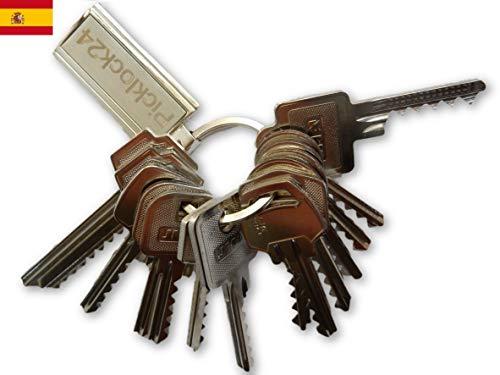 Picklock24. Juego de llaves maestras bumping de serreta válidas para cerraduras de España nº 1 (14 llaves)