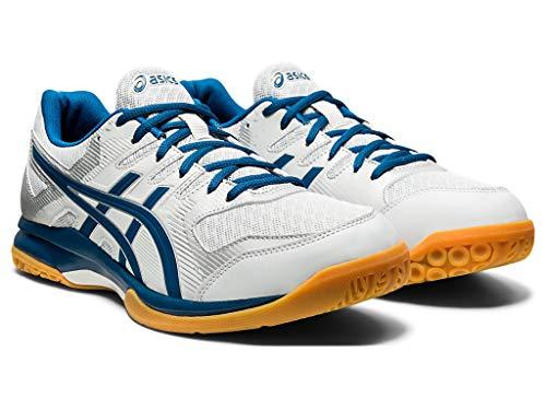 ASICS Men's Gel-Rocket 9 Volleyball Shoes, 10M, Glacier Grey/MAKO Blue